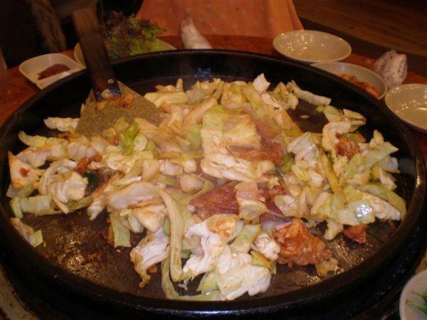 大鋼盤醃雞炒烤+金玉炒飯2