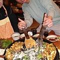 大鋼盤醃雞炒烤+金玉炒飯1