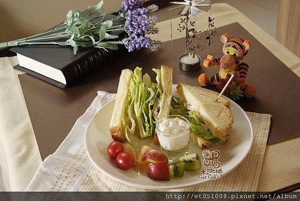 【Rice Caff'e 米咖啡】煙燻鮭魚佐酸奶油三明治