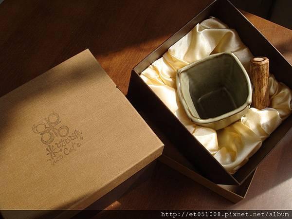 手捏木柄杯禮盒
