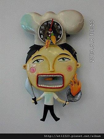 虎尾春子幼稚園(Spring Kid)環境介紹  --  家長休息室牆上的時鐘