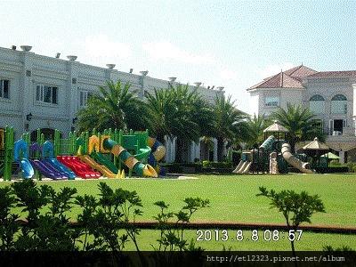 虎尾春子幼稚園(Spring Kid)環境介紹  ---   運動場旁的滑梯