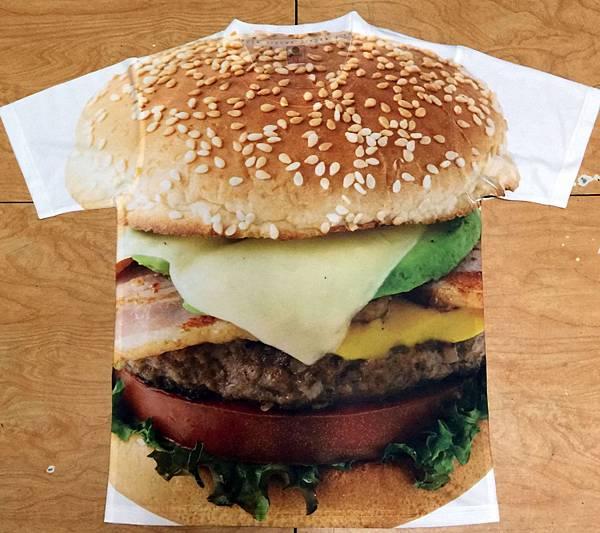 漢堡T恤 T-Shirt 吸濕排汗衣 漢堡衣服