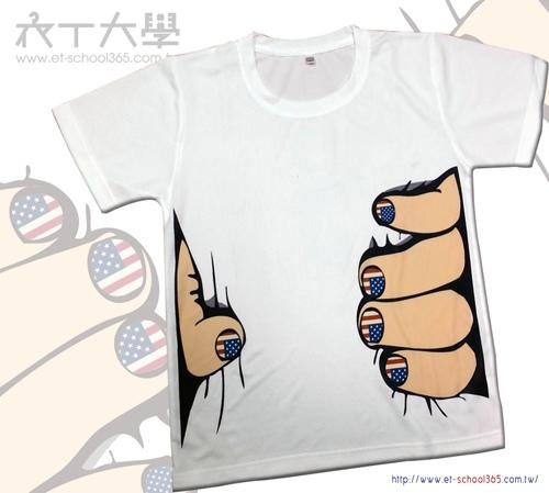 腰瘦T恤 T-Shirt (美國指甲彩繪款,另有一般款)