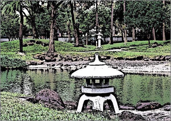 台灣總督官邸石燈籠
