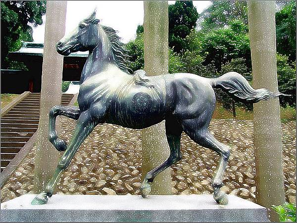 舊桃園神社神馬