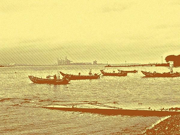 台北淡水河沿線風景