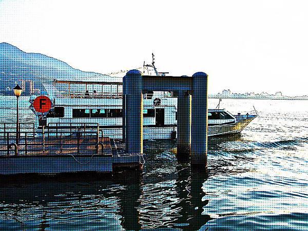 台北淡水沿岸風景