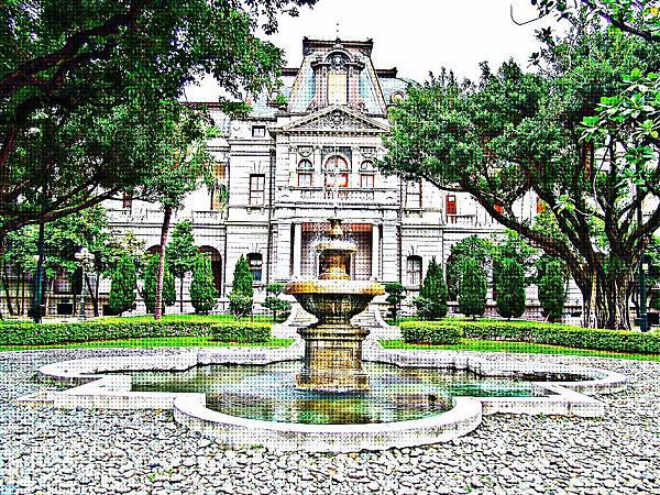 臺灣總督官邸(臺北賓館)西式南庭院