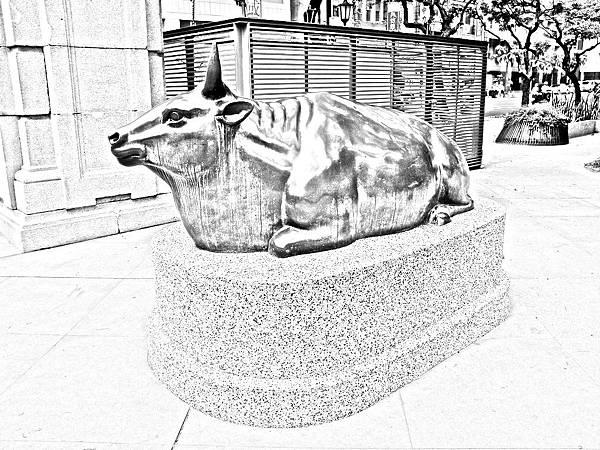 舊台灣神社銅牛