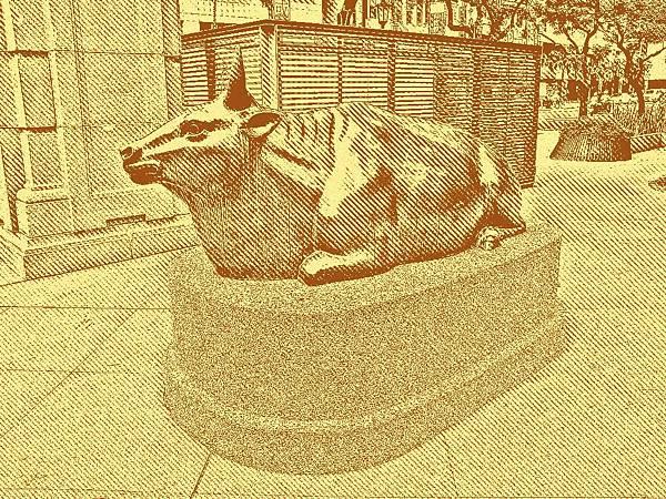 台灣神社銅牛