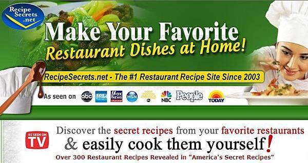 "Over 300 Restaurant Recipes Revealed in ""America's Secret Recipes"""