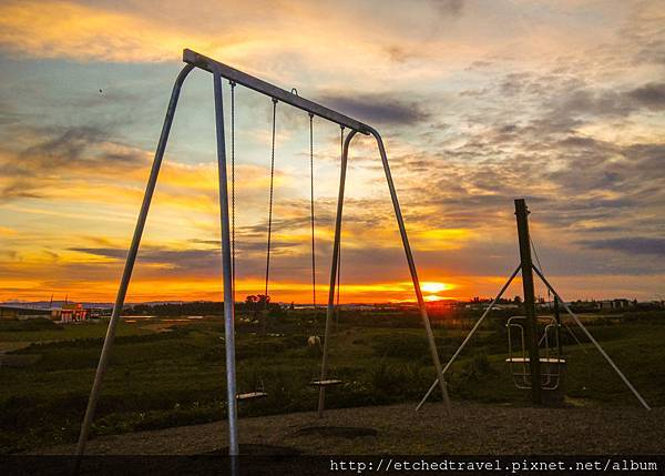 游樂園的夕陽Sunset at Playground