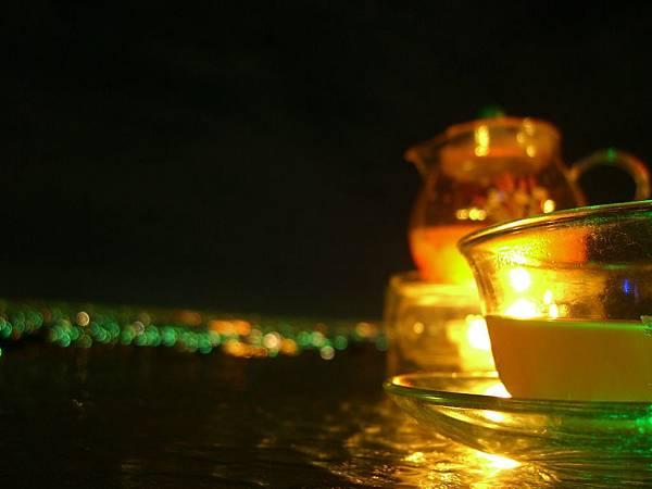 花茶伴夜景