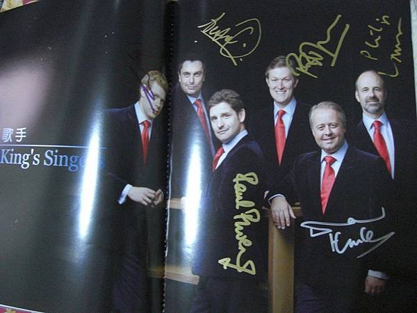 King's Singers的親筆簽名
