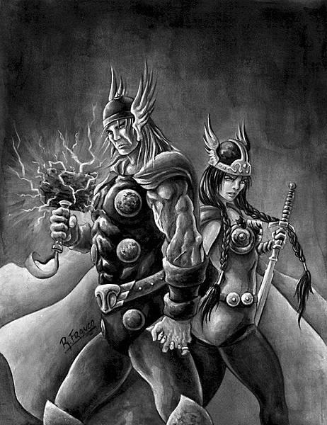 Thor_e_Sif_by_ricardoafranco