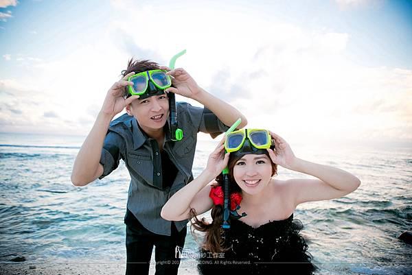 綠島海邊婚沙