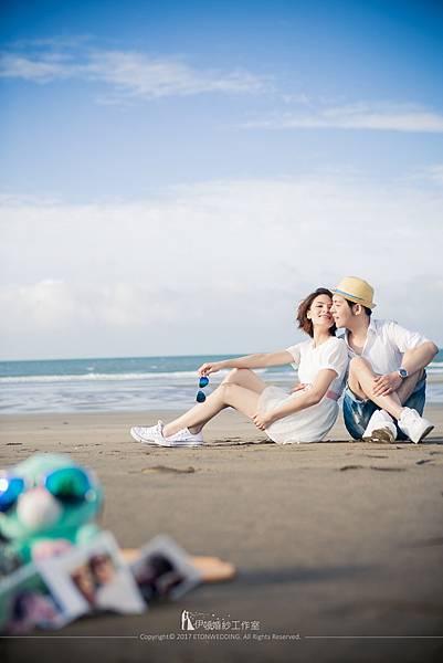 沙灘婚紗_意境