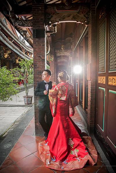 寺廟拍婚紗