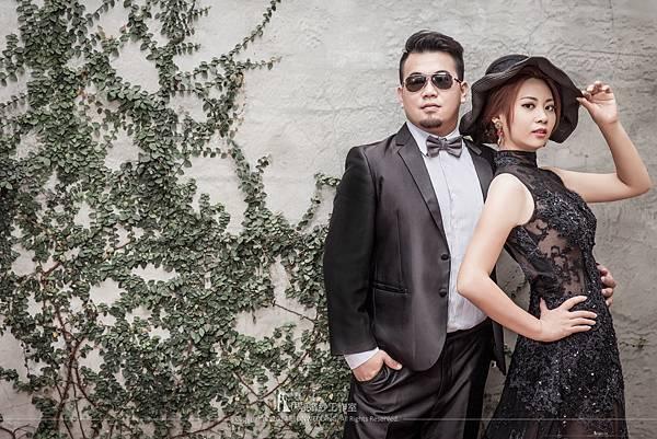 黑色禮服婚紗攝影