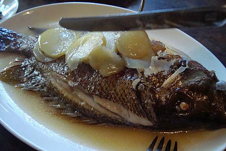 蒸烤野釣海魚