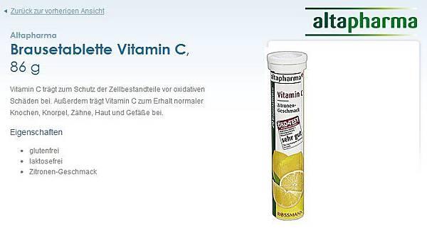 rossmann brausetablette vitamin發泡錠