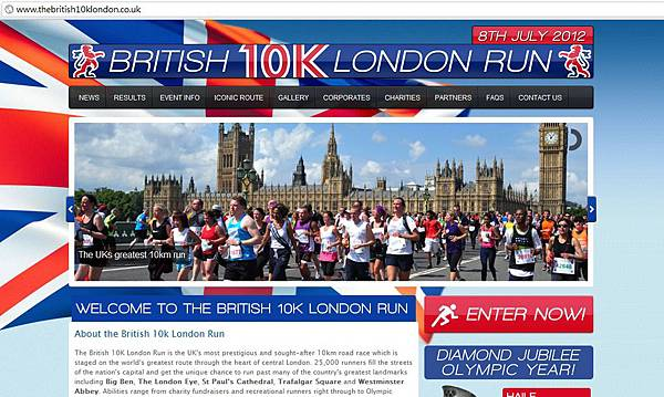 British 10k website shot