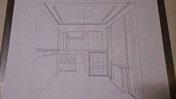 中壢室內設計-手繪透視圖
