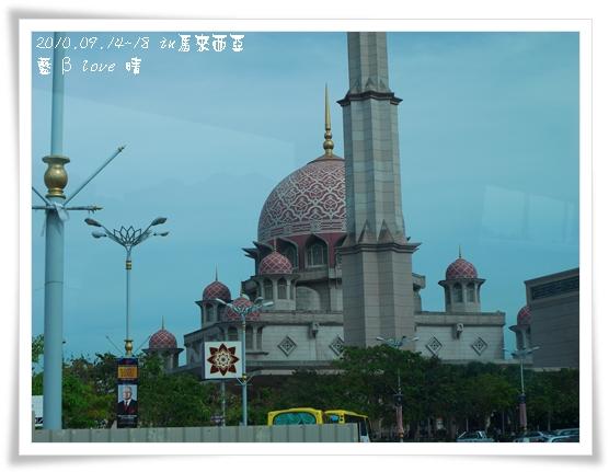 052-1車上拍水上粉紅清真寺