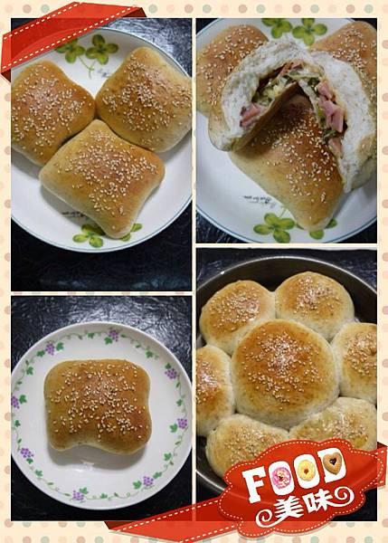 P38-湯種香葱乳酪火腿全麥麵包