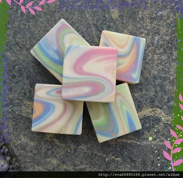 NO75:蘆薈豆漿渲染皂1