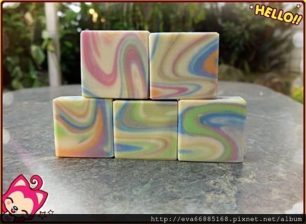 NO75:蘆薈豆漿渲染皂2