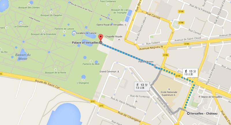 凡爾賽宮地圖