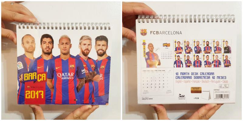 巴賽隆納足球隊月曆