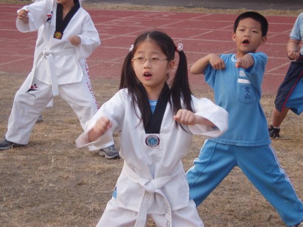 跆拳道表演(一)