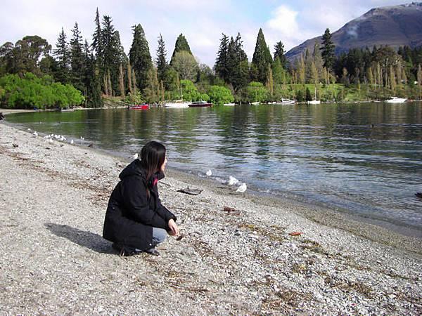 皇后鎮的湖邊