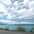 途中經過的Pukaki湖