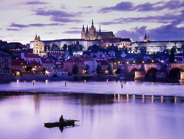 ♥ Missed Czech 3 ♥ Prague Castle 布拉格城堡區 + 查理大橋美麗夜景 ♥ prague castel on charles bridge