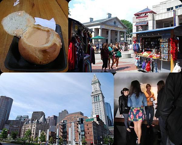 Boston 必去景點 ♥ Quincy Market 好喝的龍蝦巧達濃湯 和 很難出來的A&F