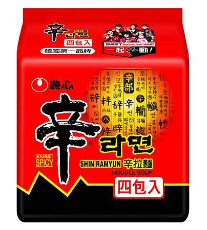 """(3)辛拉麵4入""""一起辛動版""""外包裝"""