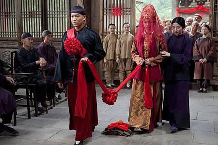 Angelababy與袁曉超在《太極2》中有洞房戲