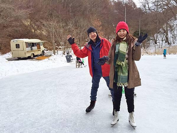藥師吉米湖上滑冰(中輕井澤町星野).JPG