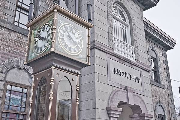 小樽音樂堂前的蒸氣時鐘每隔15分鐘敲響美妙旋律.jpg