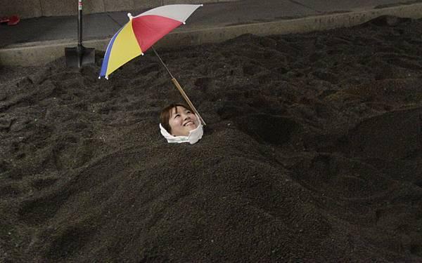 砂蒸會館砂樂-野蠻王妃在體驗砂浴後,就像是體驗三溫暖.JPG