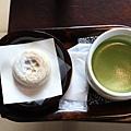 梅餅 かさの家-搭配日式抹茶,味道一級棒.JPG