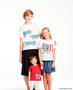 UNIQLO UT印花T恤Lisa Larson系列 親子裝形象圖