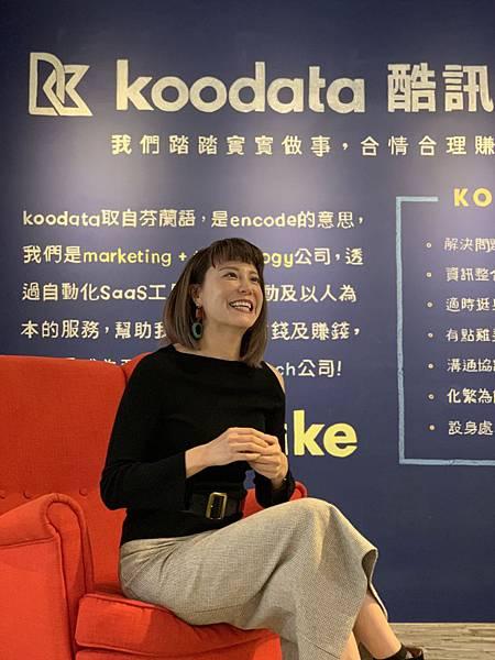【圖說:Koodata營運長孟逸錤表示,有感於身邊許多中小型企業朋友,面臨疫情期間零售通路的銷售銳減、線上銷售的不純熟等問題,因此期待Koodata可以在疫情期間,透過互助三大方