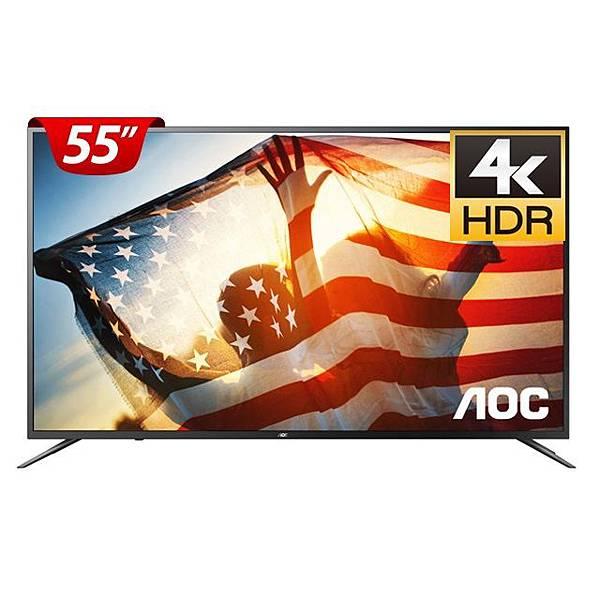 【PChome 24h購物】AOC 55吋 4K液晶顯示器 55U6090