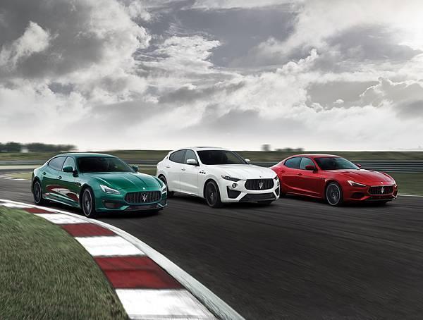 Maserati Trofeo 全車系,於全球發表會上大膽採用義大利國旗配色