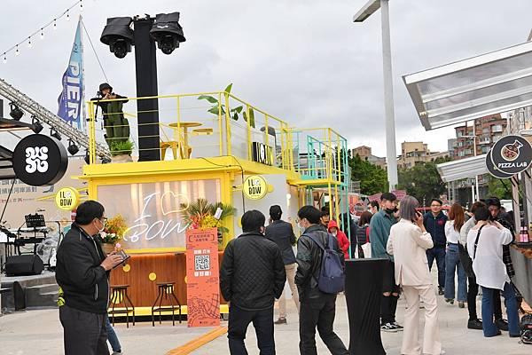 圖說:大稻埕碼頭貨櫃市集Opening Party在4月8日盛大舉辦